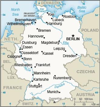Deutschlandkart